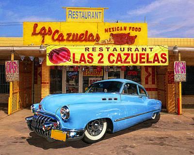 Window Signs Digital Art - Low Rider At Las Cazuelas by Ron Regalado