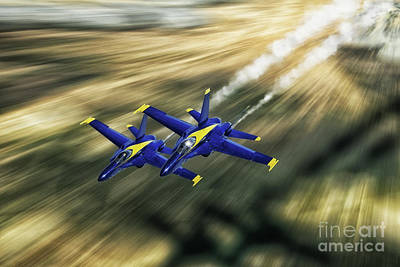 F-18 Digital Art - Low Riders by J Biggadike