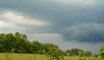 Photograph - Low Rotating Thunderstorm by Ally White