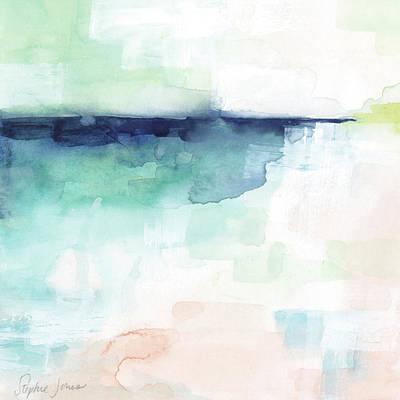 Beach Umbrella Wall Art - Painting - Low Tech by Stephie Jones
