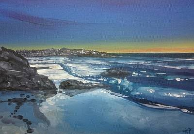 Painting - Low Tide And Light, St.ives by Keran Sunaski Gilmore