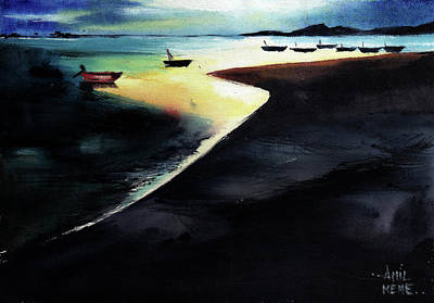 Painting - Low Tide by Anil Nene