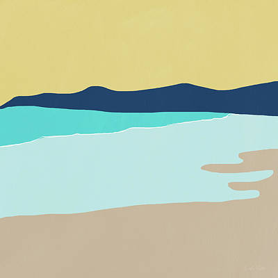 Low Tide- Art By Linda Woods Art Print