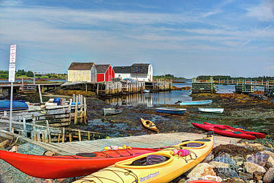 Photograph - Low Tide At Blue Rocks by Jean Hutchison