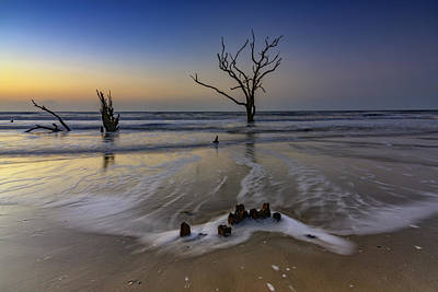 Low Tide At Botany Bay Art Print by Rick Berk