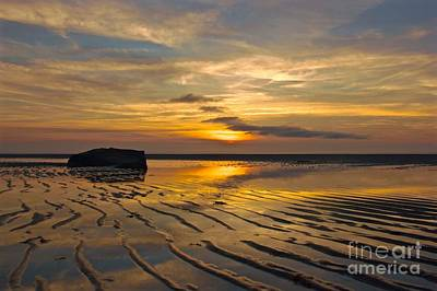Low Tide At Mayflower Beach Art Print by Amazing Jules