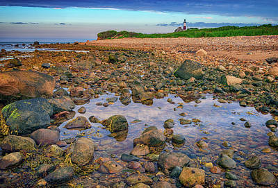 Low Tide At Montauk Point Art Print by Rick Berk