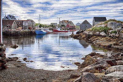 Photograph - Low Tide At Peggy's Cove 5 by Tatiana Travelways