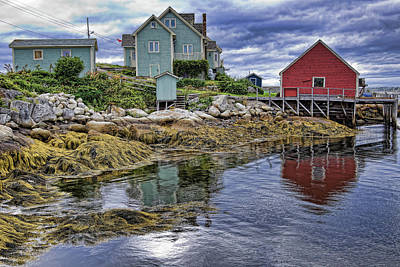 Photograph - Low Tide At Peggy's Cove by Tatiana Travelways