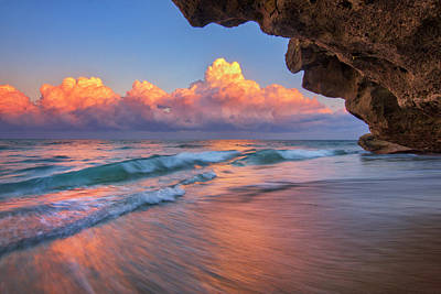 Photograph - Low Tide At Sunset From Coral Cove Park On Jupiter Island, Florida by Justin Kelefas