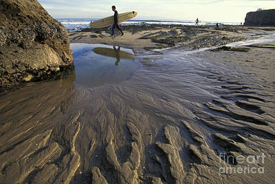 Low Tide At The Lane Art Print by Stan and Anne Foster