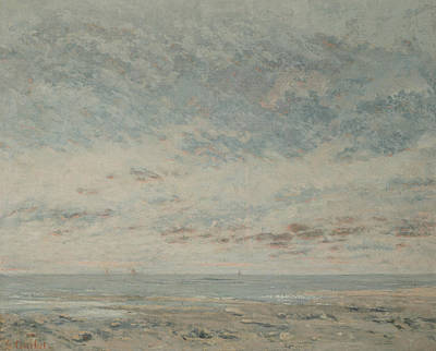 Painting - Low Tide At Trouville by Gustave Courbet