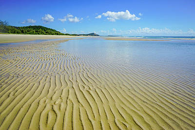 Photograph - Low Tide Beach Ripples by Keiran Lusk