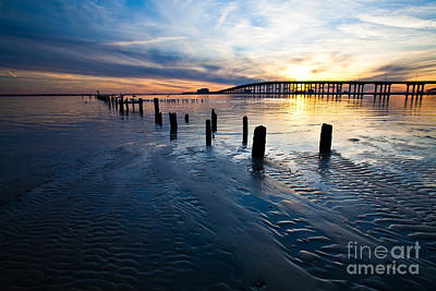 Low Tide Biloxi Bay Bridge Print by Joan McCool
