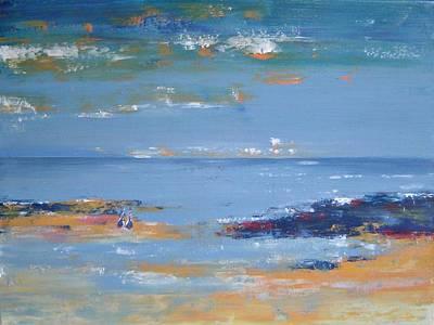 Low Tide Art Print by Bridgette  Allan