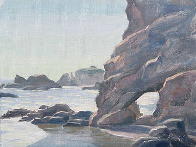 Cliffs Painting - Low Tide by Elena Roche