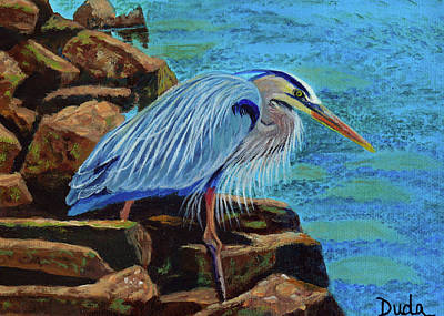 Painting - Low Tide Fisherman by Susan Duda