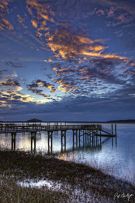Beaufort County Photograph - Low Tide Long Dock by Phill Doherty