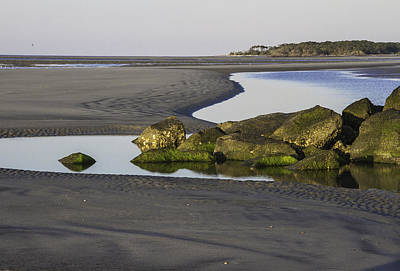 Low Tide On Tybee Island Art Print by Elizabeth Eldridge