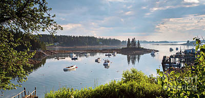 Photograph - Low Tide, Port Clyde, Maine #8507 by John Bald