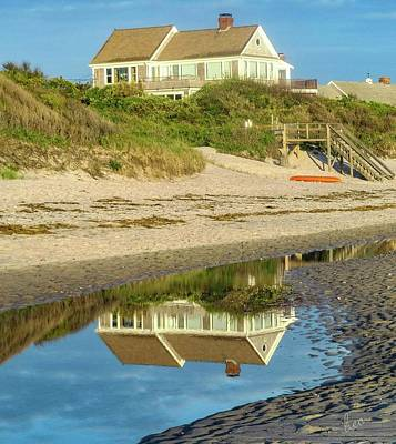 Photograph - Low Tide Reflection by Bruce Carpenter