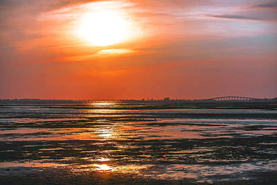 Nature Photograph - Low Tide Sunset by Michael Frizzell