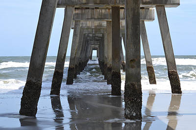 Photograph - Low Tide Under The Jacksonville Beach Pier by rd Erickson