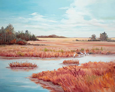 Painting - Low Tide Vista by Glenda Cason
