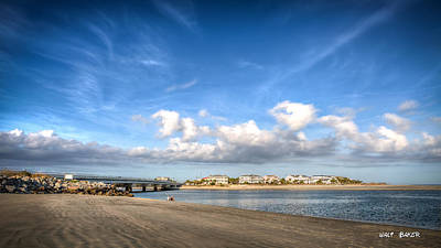 Photograph - Low Tide With High Clouds by Walt Baker
