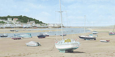 Painting - Low Water at Instow, Devon by Mark Woollacott