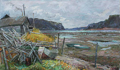 Painting - Low Water by Juliya Zhukova