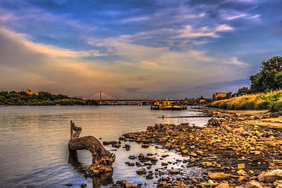 Photograph - Low Water Vistula Riverscape In Warsaw by Julis Simo