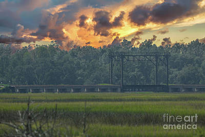 Photograph - Lowcountry Marsh Train Trestle by Dale Powell