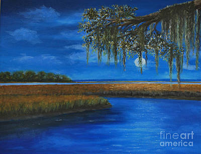 Painting - Lowcountry Moon by Stanton Allaben