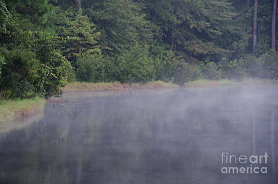 Photograph - Lowcountry Morning Lake Fog by Dale Powell