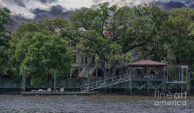 Photograph - Lowcountry Water Front Home On The Wando River In Charleston South Carolina by Dale Powell