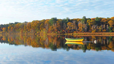 Photograph - Lowell's Autumn Dory by Christine Green