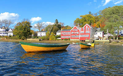 Photograph - Lowell's Three Dories from the River by Christine Green