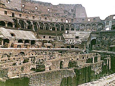 Photograph - Lower Basement Area Of The Roman Coliseum by Merton Allen