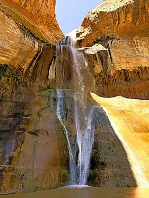 Photograph - Lower Calf Creek Falls by Robert Meyers-Lussier