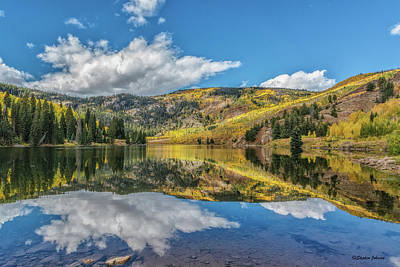 Photograph - Lower Cataract Lake Aspen by Stephen Johnson