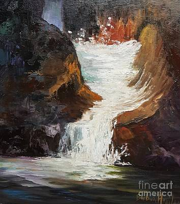 Painting - Lower Chasm Waterfall by Barbara Haviland