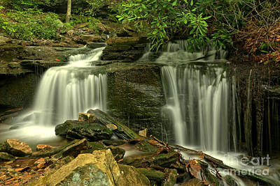 Photograph - Lower Cole Run Falls by Adam Jewell