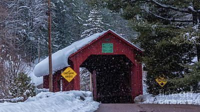 Photograph - Lower Covered Bridge by Scenic Vermont Photography