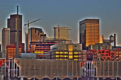 Photograph - Lower Downtown Denver At Dusk by Kevin Munro