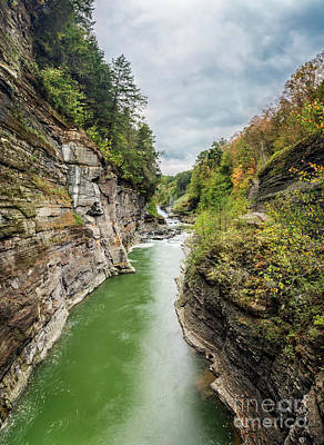 Photograph - Lower Falls And Gorge Letchworth State Park by Karen Jorstad