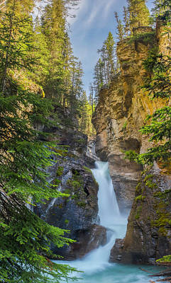 Photograph - Lower Falls At Johnston Canyon by Owen Weber