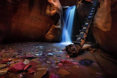 Zion Canyon Photograph - Lower Falls At Kanarra Canyon by Dave Koch