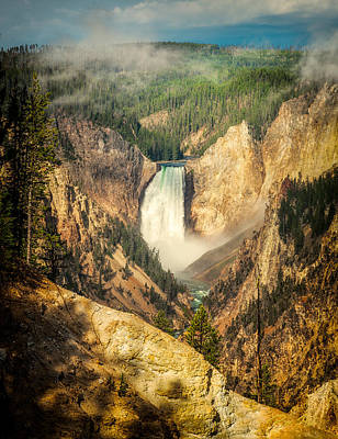 Photograph - Lower Falls At Yellowstone by Rikk Flohr