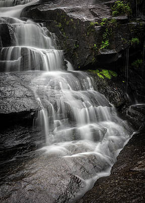 Photograph - Lower Falls Cascade At Triple Falls by Donnie Whitaker
